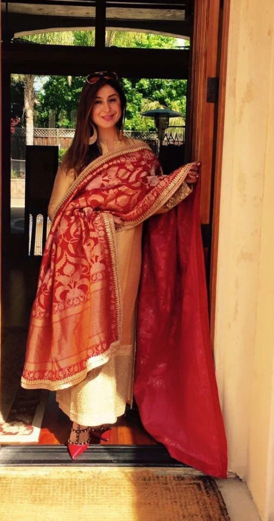 The red royal banarasi dupatta...perfect for that gathering...the royal look, thank you to all the clever weavers of banares