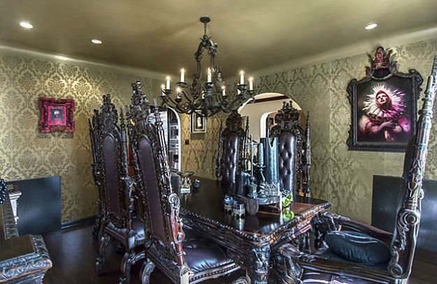 Reality star and tattoo artist Kat Von D may be best known for her TLC series LA Ink and for dating Jesse James after Sandra Bullock divorced him. She listed her 1920s Spanish-style home in the Hollywood Hills for $2.5 million recently and then removed it, but not before giving the world a glimpse of her Gothic style.