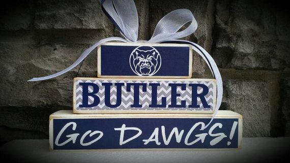 Perfect gift for any Butler University Alumni, student, teacher OR SPORTS FAN! Great size for display on a desk, shelf or DORM ROOM! This set can be customized to any sports team or school- just msg me