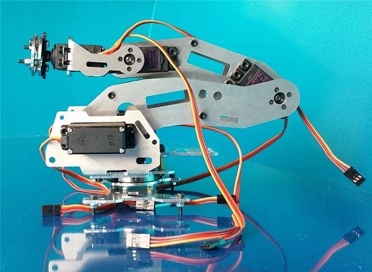 Купить товарНовый 6DOF механическая рука ab промышленный робот модель шесть оси робот манипулятор в категории Запчасти и аксессуарына AliExpress.   6 6-dof манипулятор  (Талия,  Рука,  Предплечья,  Поворота рычага,  Рука,  Наручные вращения),  Все металла,  Нижнюю ч