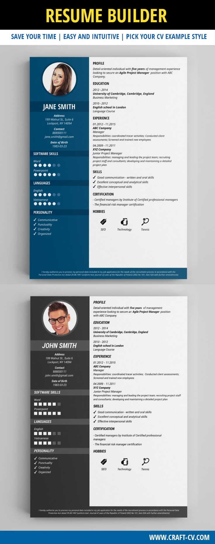 Fresh & Simple CV Sample #simpleresume #cv #classicresume