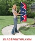 "Patriots Swooper Flag Kit 42"" x 13"""