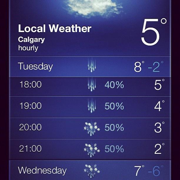 No, say it isn't so... (or snow)