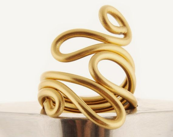 Wrapped ring by pureshapes: Gold Wraps, Beautiful Wounded, Gifts Ideas, Colors Avail, Fashion Forward, Etsy Seller, Jewelry Rings, Wounded Rings, Wire Wraps Rings
