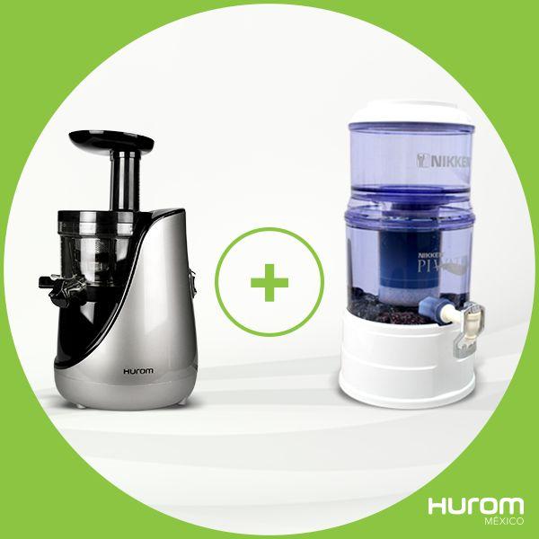 ¡La combinación perfecta para tu salud Hurom HN + PiWater!  Tomar jugo y agua alcalina en conjunto, elimina los desechos ácidos de tu organismo, te ayuda potencialmente a evitar el envejecimiento prematuro, regula el proceso digestivo y problemas de estreñimiento.  Compra Hurom y el filtro de agua PiWater de Nikken con hasta 6 meses sin intereses. **El envío de los productos es por separado  (Pagas envío del extractor y el del filtro es gratis) Tienda en línea ➜ www.hurom.mx