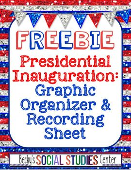 FREE 5-9 graphic organizer where students can take introductory notes on the inauguration and write an original version of an inauguration.  The product also includes a recording sheet for students to complete when they watch Trump's Inauguration in January.