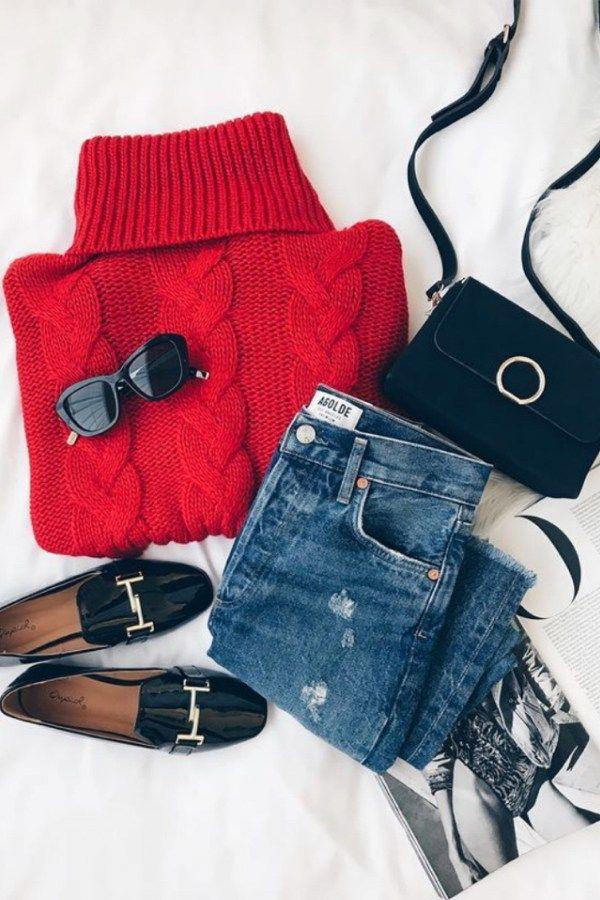 Maglioni rossi di classe a meno di $ 50 da indossare con jeans