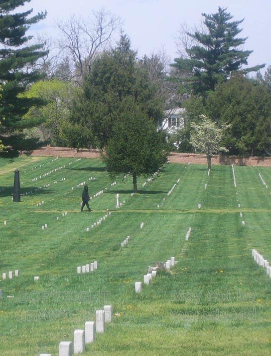 In the cemetery at the Fredericksburg, Virginia Civil War battlefield - a sad, still place.