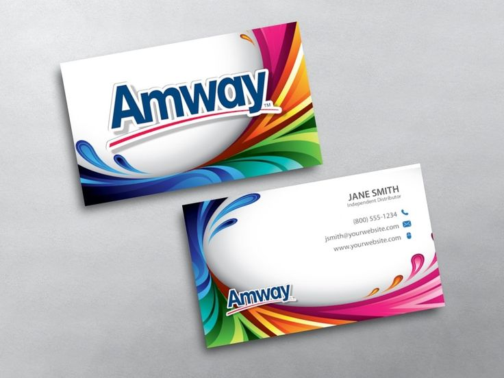 Amway business cards inspirational design famous business