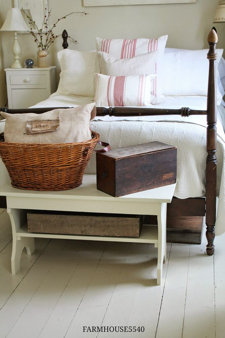 The bench, basket and box...FARMHOUSE 5540