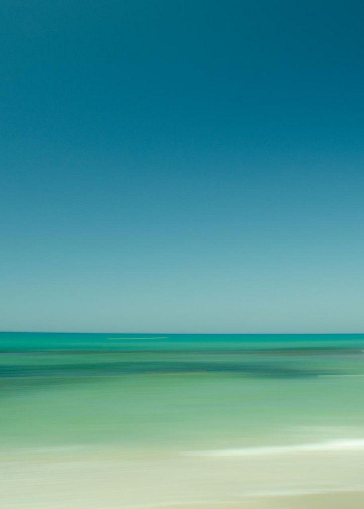 Seascape ocean water colors green blue