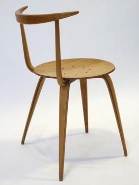 George Nelson; 'Pretzel' Sidechair for Herman Miller, 1950s.