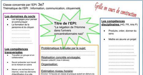 Grille EPI   Histoire- Géographie- EMC   Scoop.it