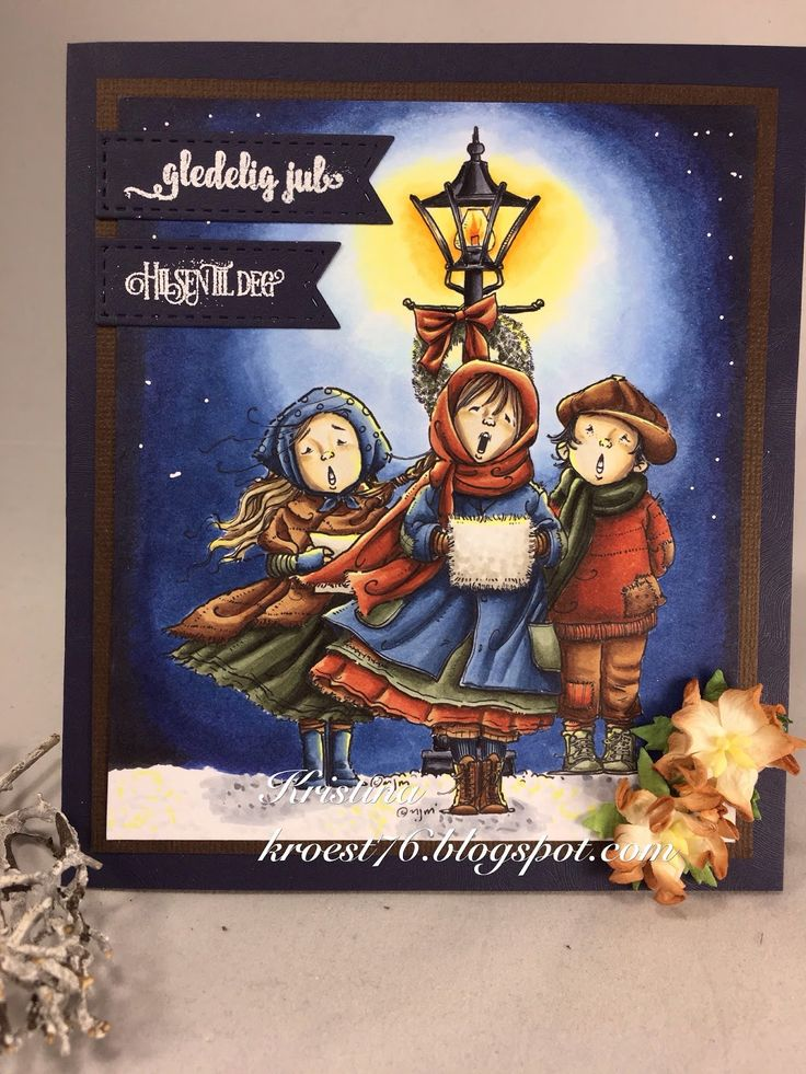 Copic Markers, Copic Marker Norge, Mo´s digital pencil, julekort, Rugged carolers