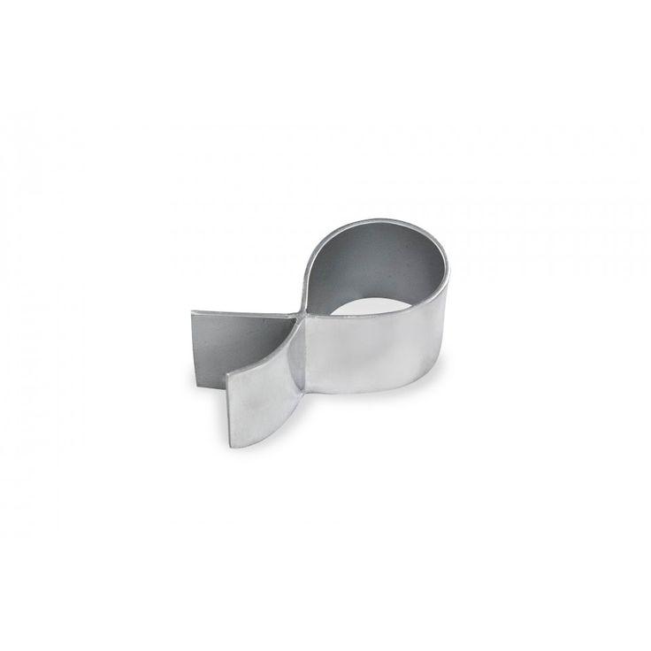 Glamis Napkin Ring. Brushed metal.