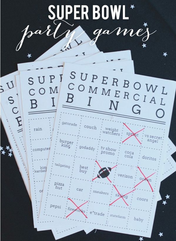 Get your guests into a game of commercial bingo