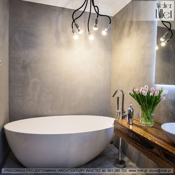 Realizacja Lazienki Z Piekna Wanna I Bateria Stojaca Kto Chcialby Taka Wanne Reka Kciuk Do Gory Projekt Atelier Lill Interior Interior Design Bathroom