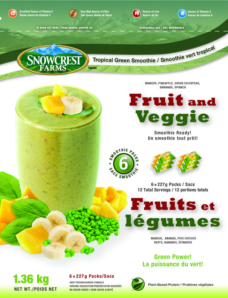 Snowcrest Package Design - Tropical Green Smoothie