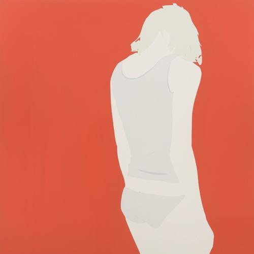 Natasha Law  Red Leaving, 2013  Gloss paint on aluminium  49 x 49 in / 125 x 125 cm