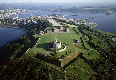 Pendennis Castle & headland with Falmouth beyond - Pendennis Castle, Falmouth, Cornwall, England