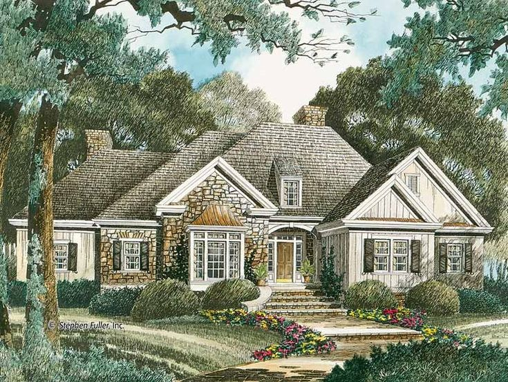 Best Wooded Lot Homes Images On Pinterest American Houses - Country house plans 2 story home