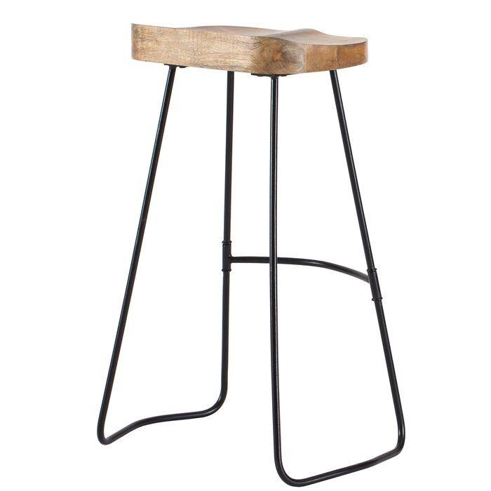 Crooke Solid Wood 29 75 Bar Stool Bar Stools Stool Adjustable Bar Stools