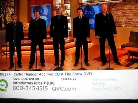 Celtic Thunder performs Ireland's Call on QVC. i couldnt find one where they were performing it on stage so i had to settle for this haha