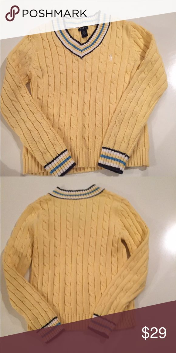 Just Listed Yellow Izod V-neck Sweater Just Listed Yellow Izod V-neck Sweater Izod Sweaters V-Necks