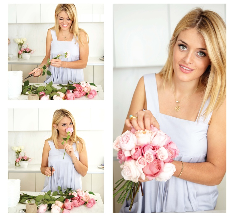 Fresh flowers are a great way to give life and energy to a room, says Daphne Oz.