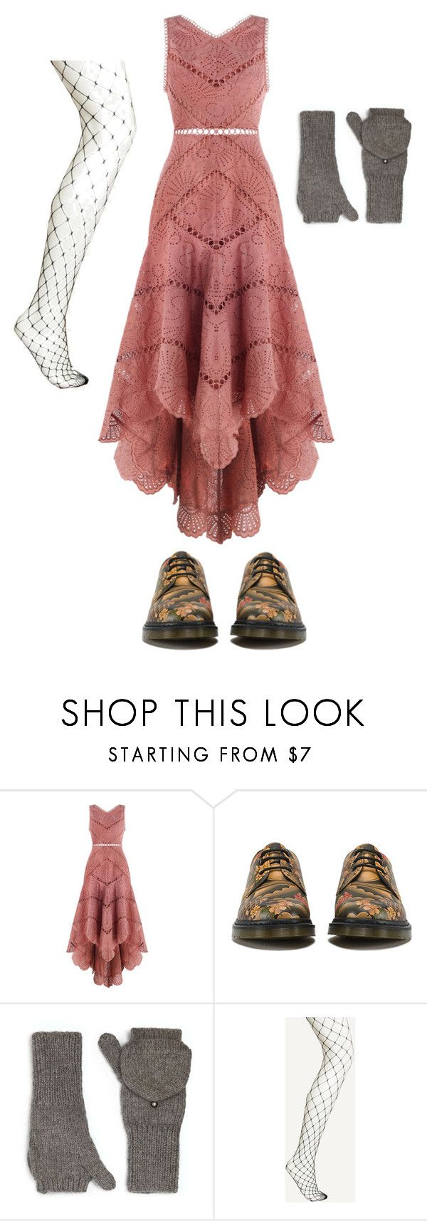 """""""Half a hobo"""" by hijackedish on Polyvore featuring Zimmermann, Dr. Martens and Eugenia Kim"""
