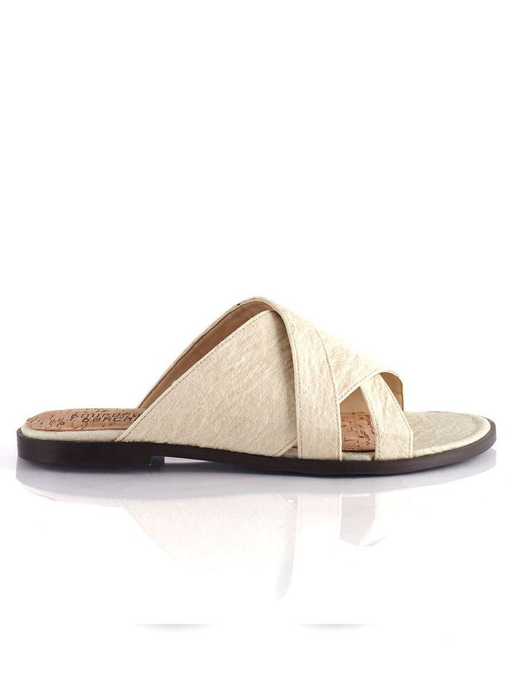 shop ethical sustainable & ethical clothing by Bourgeois Boheme Victoria Slip-on: Pinatex Natural| Portugal Artisan Handmade with Vegan Leather Shoes | Ethi