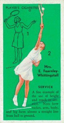 Tennis Player, Nottingham, 1936; cigarette card