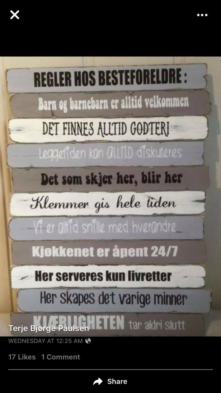 Besteforeldres hus regler!