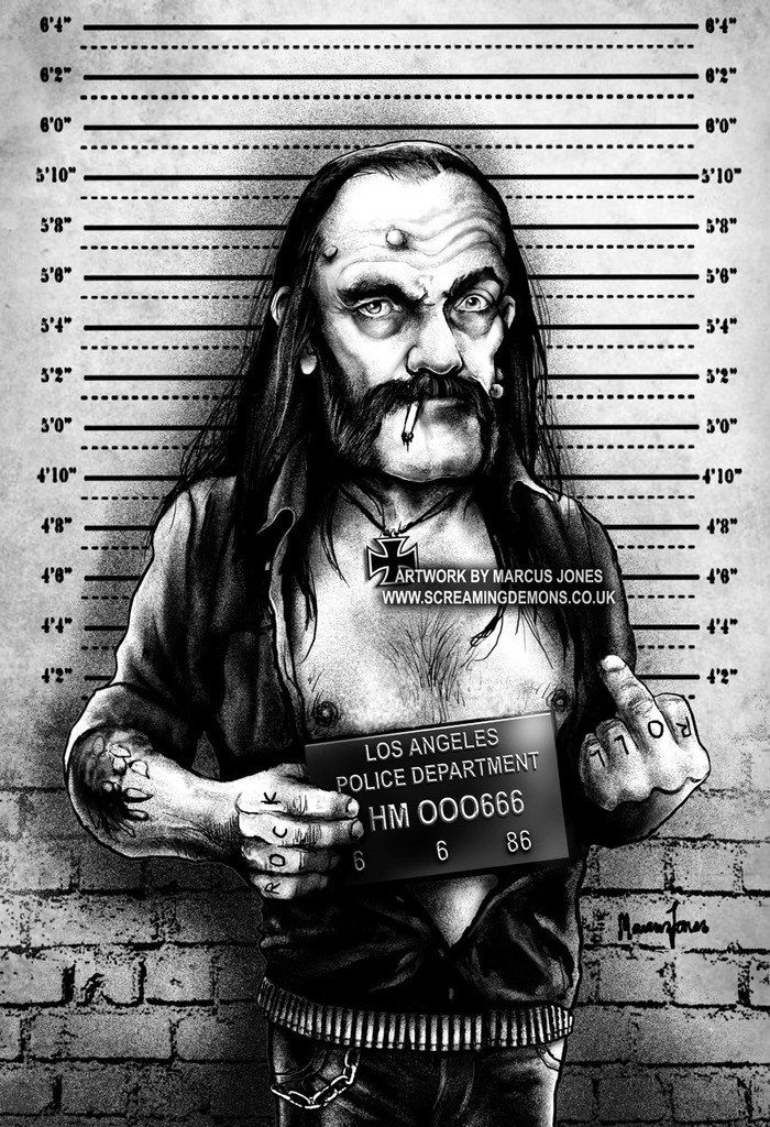 Les comparto una galería bastante Evil del dibujante Marcus Jones, que lleva por nombre Rockabilly Mugshots.