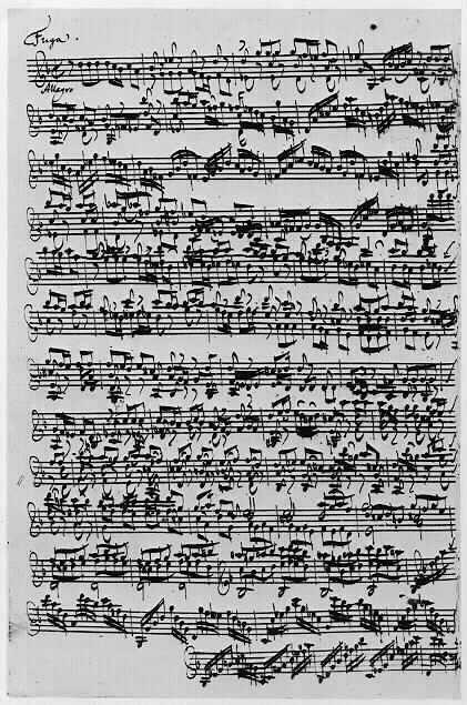 One of Johann Sebastian Bachs Solo Violin Sonatas - click to enlarge