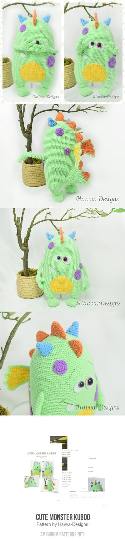 Cute Monster Kuboo Amigurumi Pattern Paid pattern