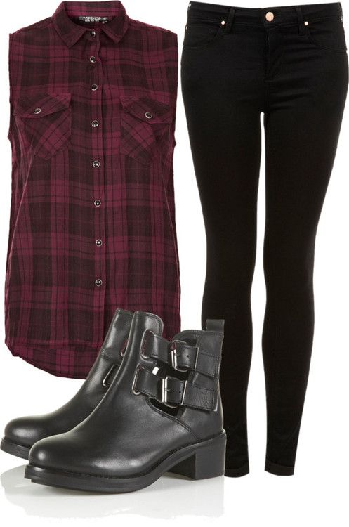 maybe just change the shoes to black flats or some other boots like that in my style I like and its a perfect rock concert outfit idea than-Amaya