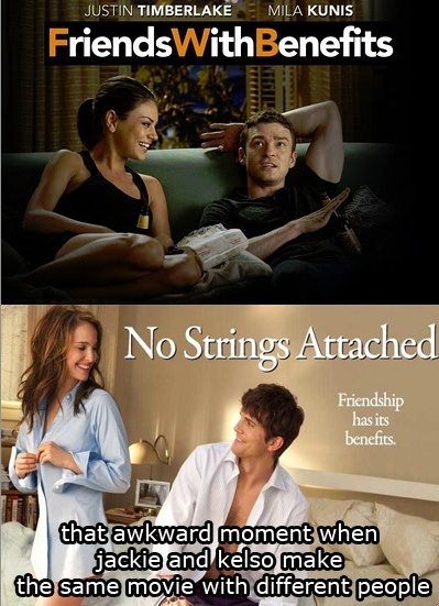 #friendswithbenefits #nostringsattached #movie #milakunis #justintimberlake #ashtonkutcher #natalieportman #poster #awkwardmoment
