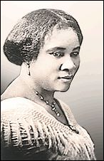 Sarah Breedlove, aka Madame C J Walker, African American inventor and businesswoman who left millions to philanthropy and  helped fund much of the Harlem renaissance.