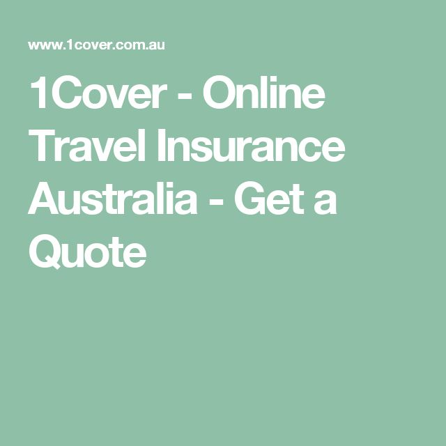 1Cover - Online Travel Insurance Australia - Get a Quote