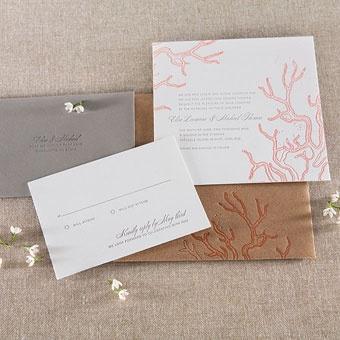 Brides Magazine: Beach Wedding Invitations : Wedding Invites & Stationery Gallery