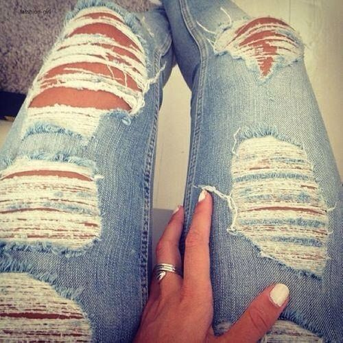 Destroyed jeans are definetly my favorite