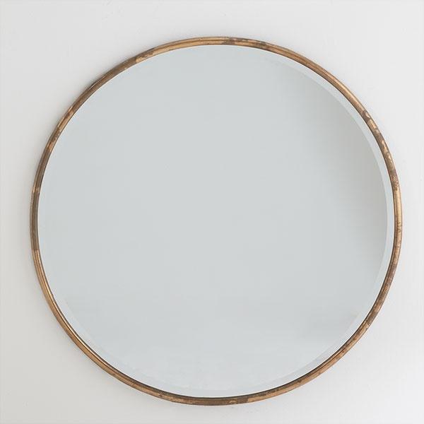 Gilt Minimalist Mirror Beautiful Large Round Mirror And