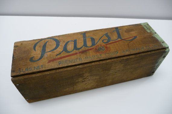 Antique Pabst wooden cheese box Primitive Rustic by SalvageRelics