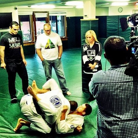 KTLA filming at Gracie Academy Beverly Hills talking metamoris.