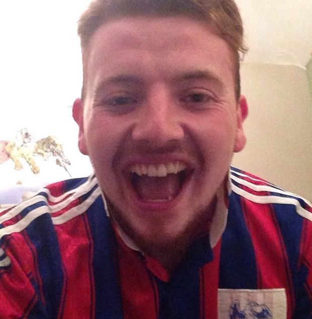 Henry Garwood, 21, after getting his A-level results