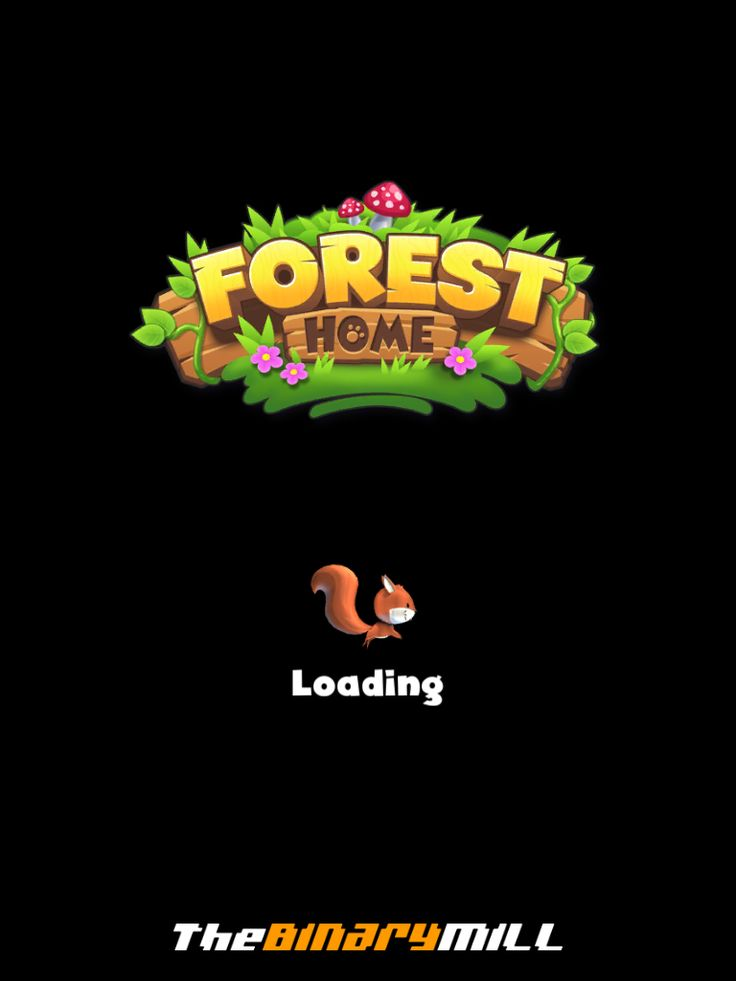 Forest Home | Game Loader| UI, HUD, User Interface, Game Art, GUI, iOS, Apps, Games, Grahic Desgin, Puzzle Game, Maze Games, Brain Games | www.girlvsgui.com
