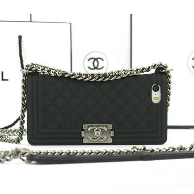 Black chanel boy chain bag phone case for iphone 4 4s ...
