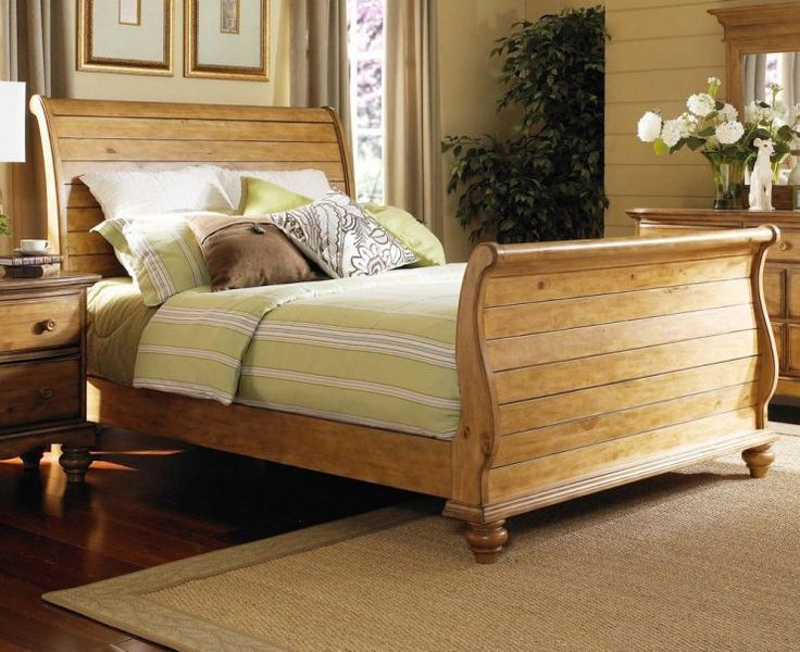 awesome king sleigh bed traditional design with nightstand - King Sleigh Bed Frame
