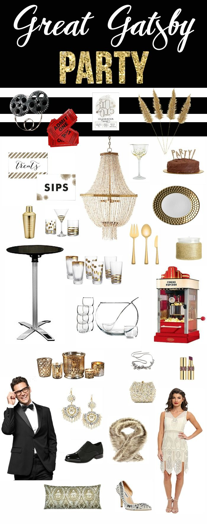 Looking for something fun and unique for your New Year's Eve Party? I'm sharing a few NYE Party Ideas today...a Great Gatsby theme & a Black and Gold theme.